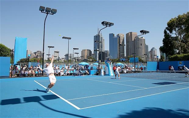 pista de tenis.