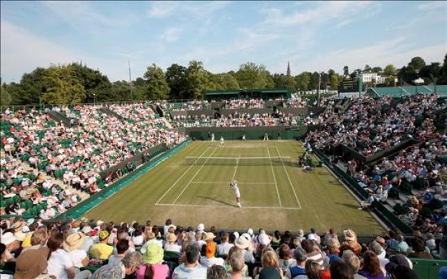 Ferrero en Wimbledon en 2009 contra Santoro: Foto:lainformacion.com/EFE