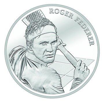 Resultado de imagen para federer y una moneda en suiza