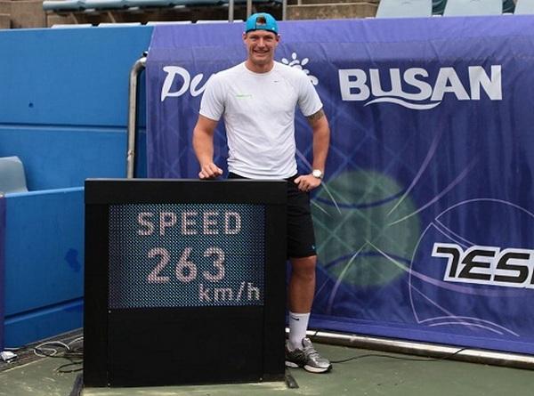 Tennis Schnellster Aufschlag