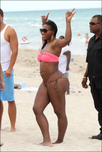 Descuidos y fotos de Serena Williams que subieron la