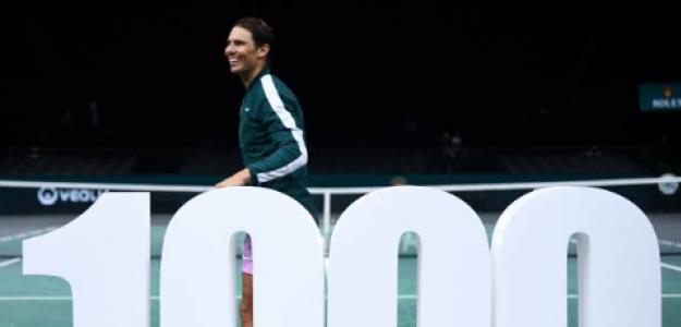 Rafa Nadal celebra sus 1000 victorias. Fuente: Getty