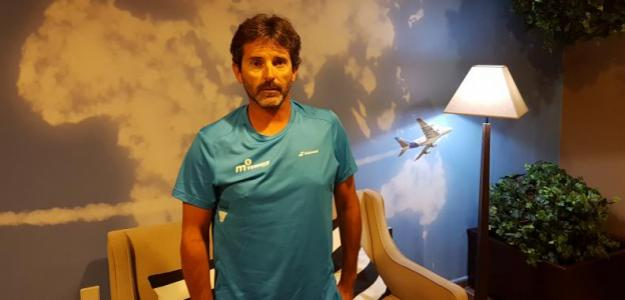 Adolfo Gutiérrez, entrenador de De Miñaur. Foto: Propia