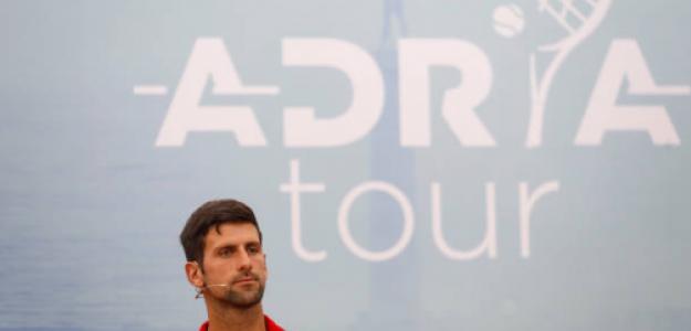 Novak Djokovic, en la presentación del Adria Tour. Fuente: Getty