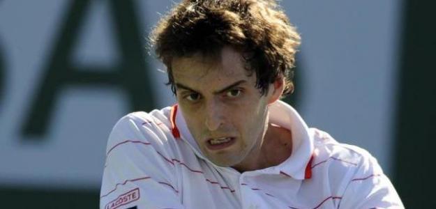 Albert Ramos pega un revés. Foto: lainformacion.com/EFE
