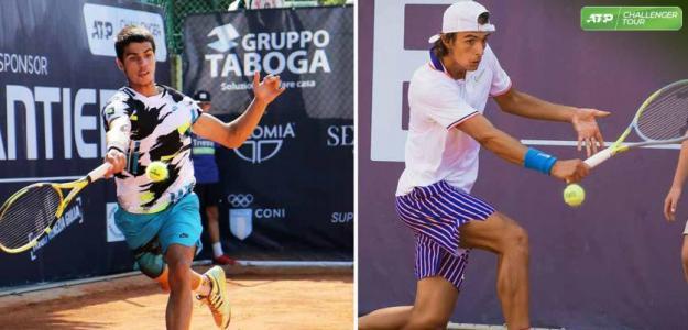 Carlos Alcaraz y Lorenzo Musetti luchando por entrar al top-100. Foto: gettyimages