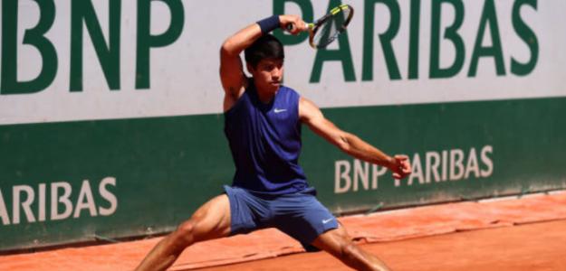"""Alcaraz: """"Esto me da mucha motivación para seguir entrenando y mejorando"""". Foto: Getty"""