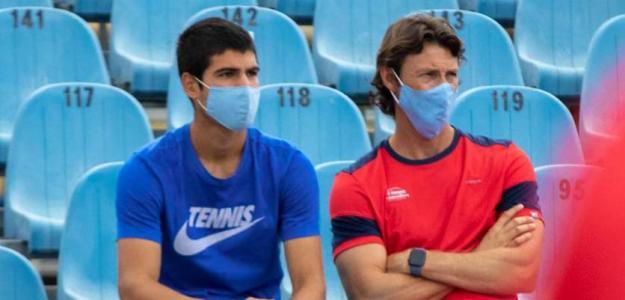 Carlos Alcaraz y Juan Carlos Ferrero. Foto: ATP