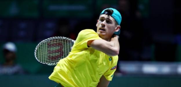 El número uno australiano jugando la Copa Davis en Madrid. Foto: Getty