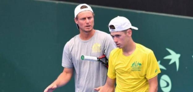 Hewitt y De Miñaur. Foto: Copa Davis