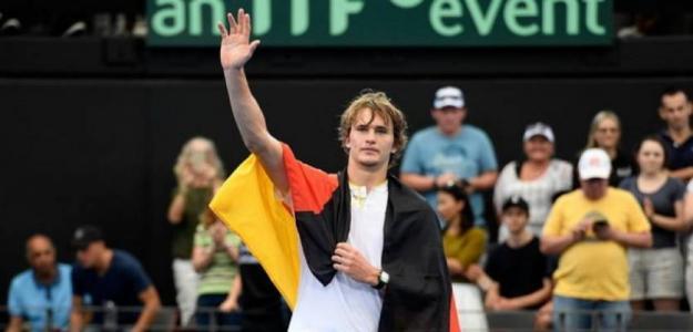 Alexander Zverev en Copa Davis. Foto: gettyimages