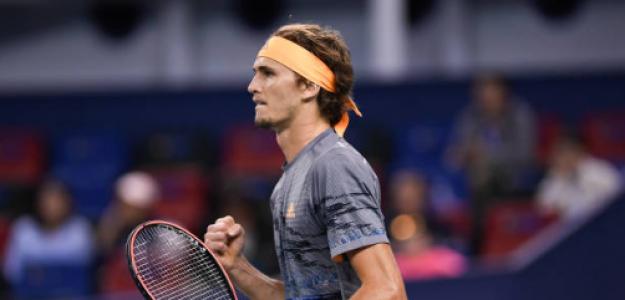 Alexander Zverev gana a Roger Federer en Shanghái 2019. Foto: gettyimages