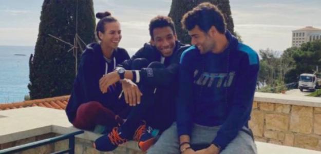 Ajla Tomljanovic, Felix-Auger Aliassime y Matteo Berrettini. Fuente: Marcos Zugasti