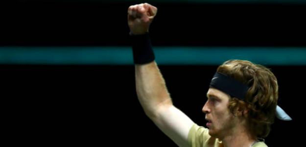 Andrey Rublev levanta su octavo título ATP. Fuente: Getty
