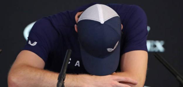 Andy Murray, abatido tras anunciar su retirada para este 2019. Foto: Getty