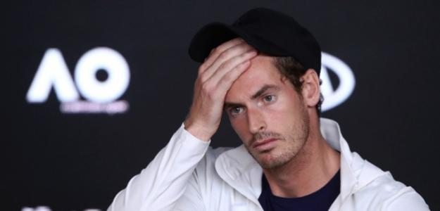 Andy Murray, desolado tras anunciar su lesión. Fuente: Getty