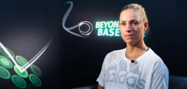 Angelique Kerber durante una entrevista. Fuente: Getty