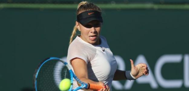 Anisimova no tiene presión porque la comparen con 'Masha'. Foto: Getty
