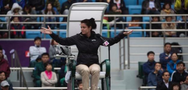 Anja Vreg, umpire de prestigio en circuito WTA. Foto: wtatennis.com