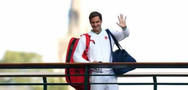 Federer, en su despedida de Wimbledon 2021. Fuente: Getty