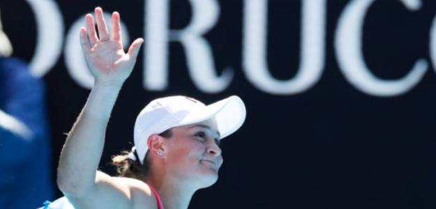 Ashleigh Barty dice adiós al Open de Australia. Fuente: Getty