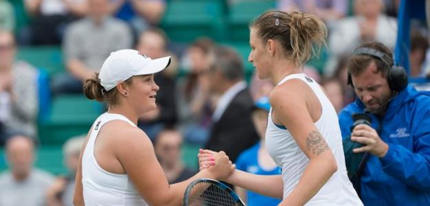 Ashleigh Barty y Karolina Pliskova, final Miami Open 2019. Foto: zimbio