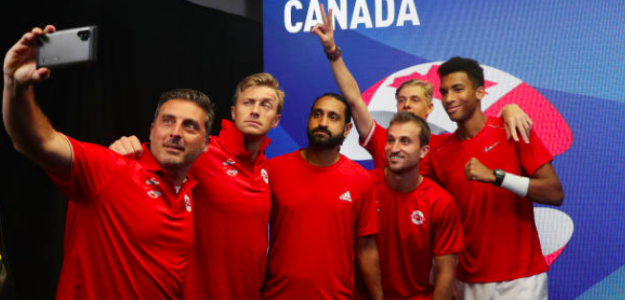 Canadá celebrando una victoria en la ATP Cup 2020. Fuente: Getty