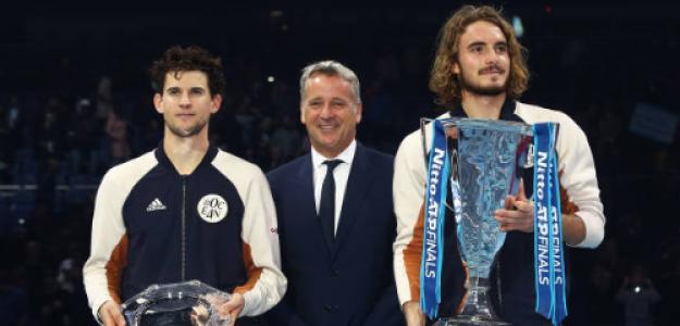 Thiem y Tsitsipas, finalistas de las ATP Finals de 2019. Fuente: Getty