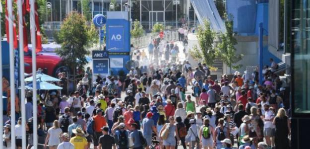 Calles repletas en Melbourne Park. Fuente: AusOpen