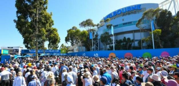 Llenos en cada jornada del Open de Australia. Fuente: AusOpen