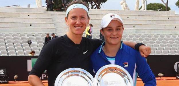 Azarenka y Barty en Roma 2019.