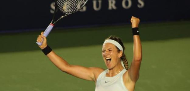 Victoria Azarenka celebrando la victoria. Foto: Getty Images