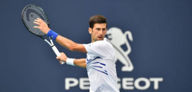 Novak Djokovic, en el Miami Open 2019. Fuente: Getty