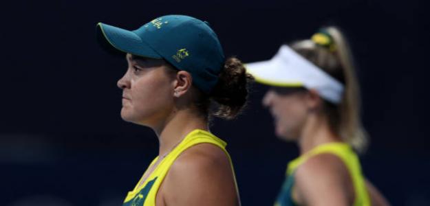 Barty disputa el dobles femenino en Tokio. Fuente: Getty