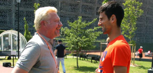Boris Becker, junto a Novak Djokovic. Fuente: Getty