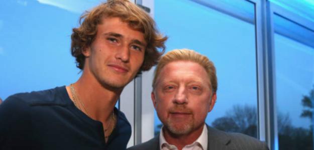 Becker y Zverev. Foto: Getty