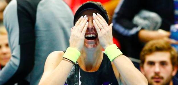 Belinda Bencic, emocionada tras su última victoria. Fuente: Getty
