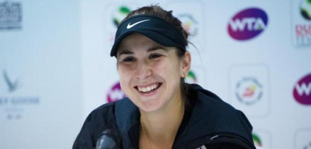 La sonrisa de Belinda Bencic en Dubai. Fuente: Getty