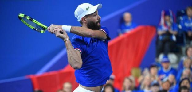 Benoit Paire en Copa Davis 2018. Foto: zimbio