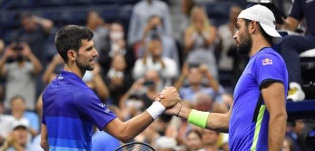 """Berrettini: """"Contra Djokovic no importa lo bien que juegues, él siempre juega mejor"""". Foto: Getty"""