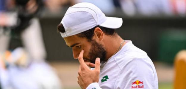 Esta fue la gran equivocación de Berrettini ante Djokovic en la final de Wimbledon. Foto: Getty