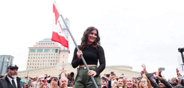Andreescu celebró su título en Ontario. Fuente: CBC