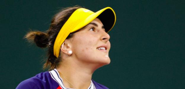 Bianca Andreescu en Indian Wells. Fuente: Getty