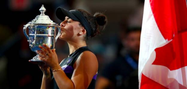 El beso de la campeona. Fuente: Getty
