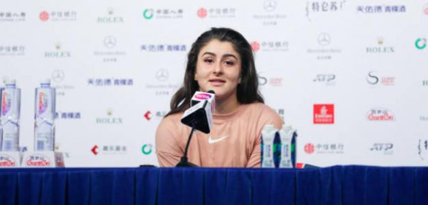 Andreescu en sala de prensa. Fuente Getty