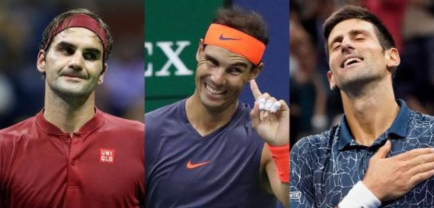 Big3, Federer, Nadal, Djokovic.