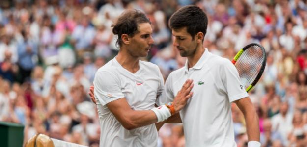 Rafael Nadal y Novak Djokovic en Wimbledon. Foto: zimbio