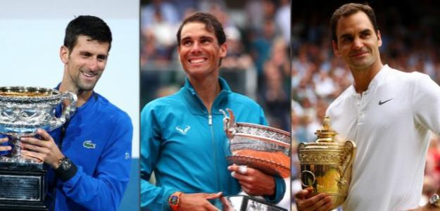 Djokovic, Nadal y Federer. Fuente: Twitter
