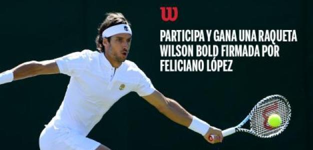 Sorteo raqueta Wilson edición Bold firmada por Feliciano