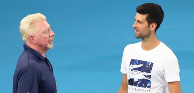 Djokovic entrenó con Becker durante dos temporadas. Foto: Getty